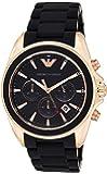 Emporio Armani Men's Quartz Watch, Analog Display and Leather Strap AR6066
