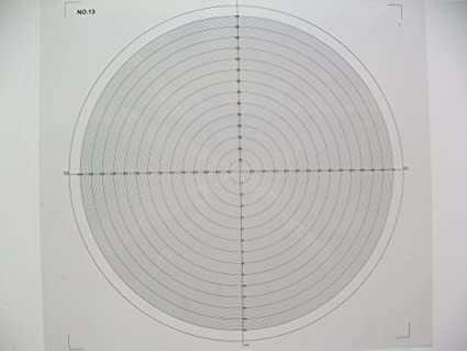 Gráfico comparador óptico para tabla de superposición de ...