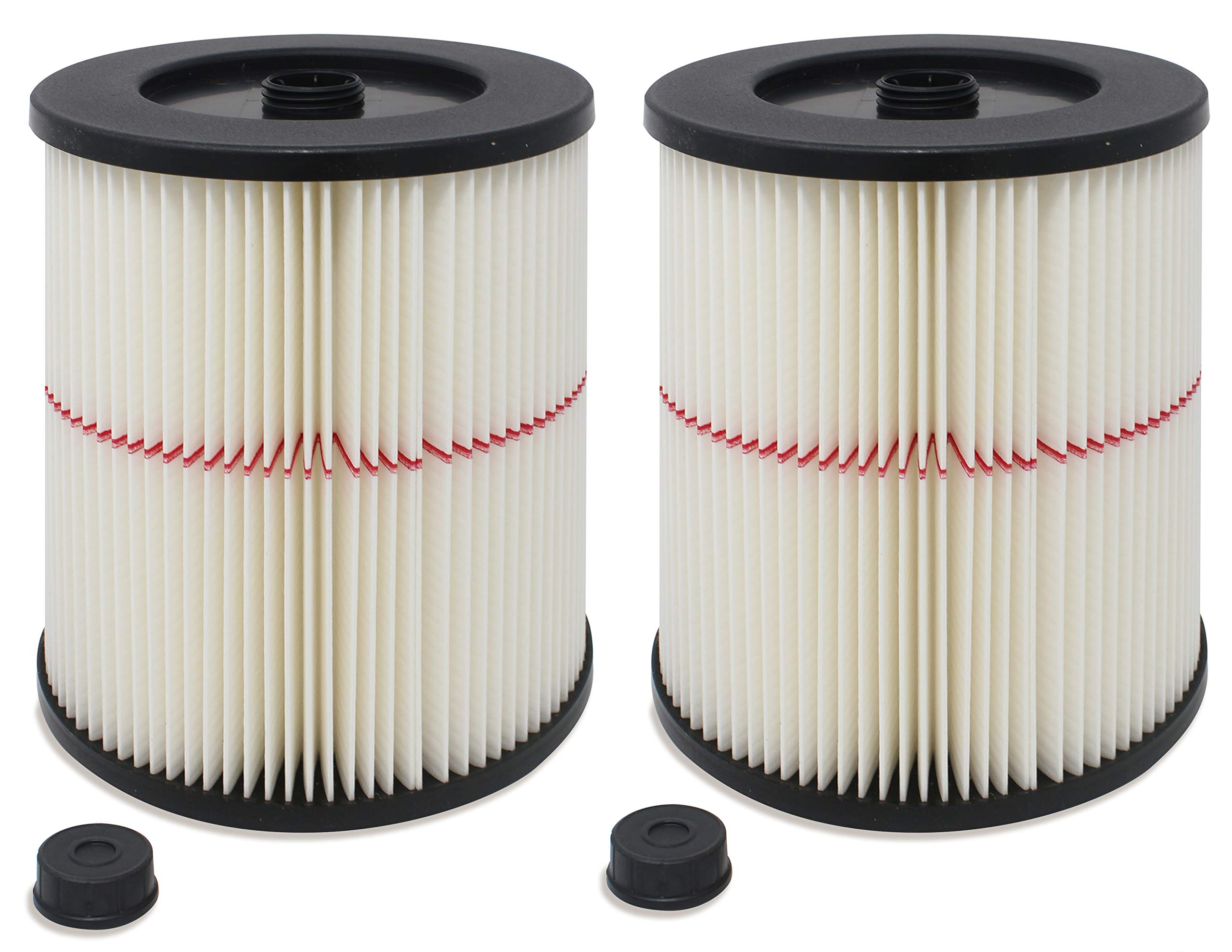 Fette Filter - General Purpose Cartridge Filter Compatible with Craftsman Red Stripe Vac. Compare to Part # 17816 & 9-17816. (Pack of 2) by Fette Filter