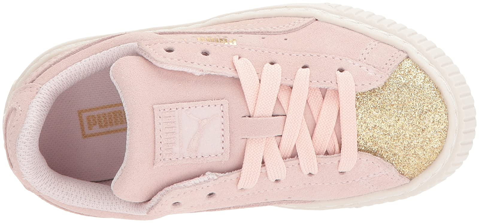PUMA Kids' Suede Platform Glam Sneaker Pink 36492207 - 8