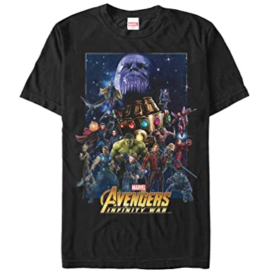 232a6cdf7d7f Amazon.com: Marvel Men's Avengers: Infinity War Character Collage T ...