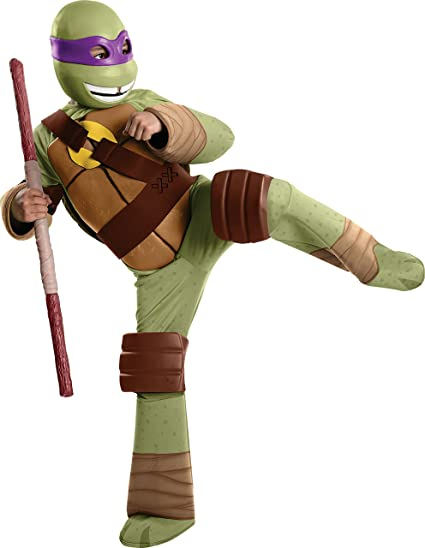 Complete DELUXE Teenage Mutant Ninja Turtles Michelangelo Costume Large Medium