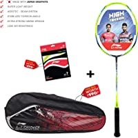 Li-Ning Turbo X 80-II Carbon-Graphite Badminton Racquet with Free String & Bag
