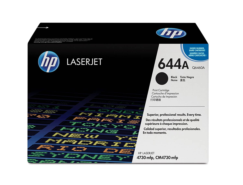Amazon.com: HP 644A (Q6460A) Black Original Toner Cartridge for HP Color  LaserJet 4730: Office Products