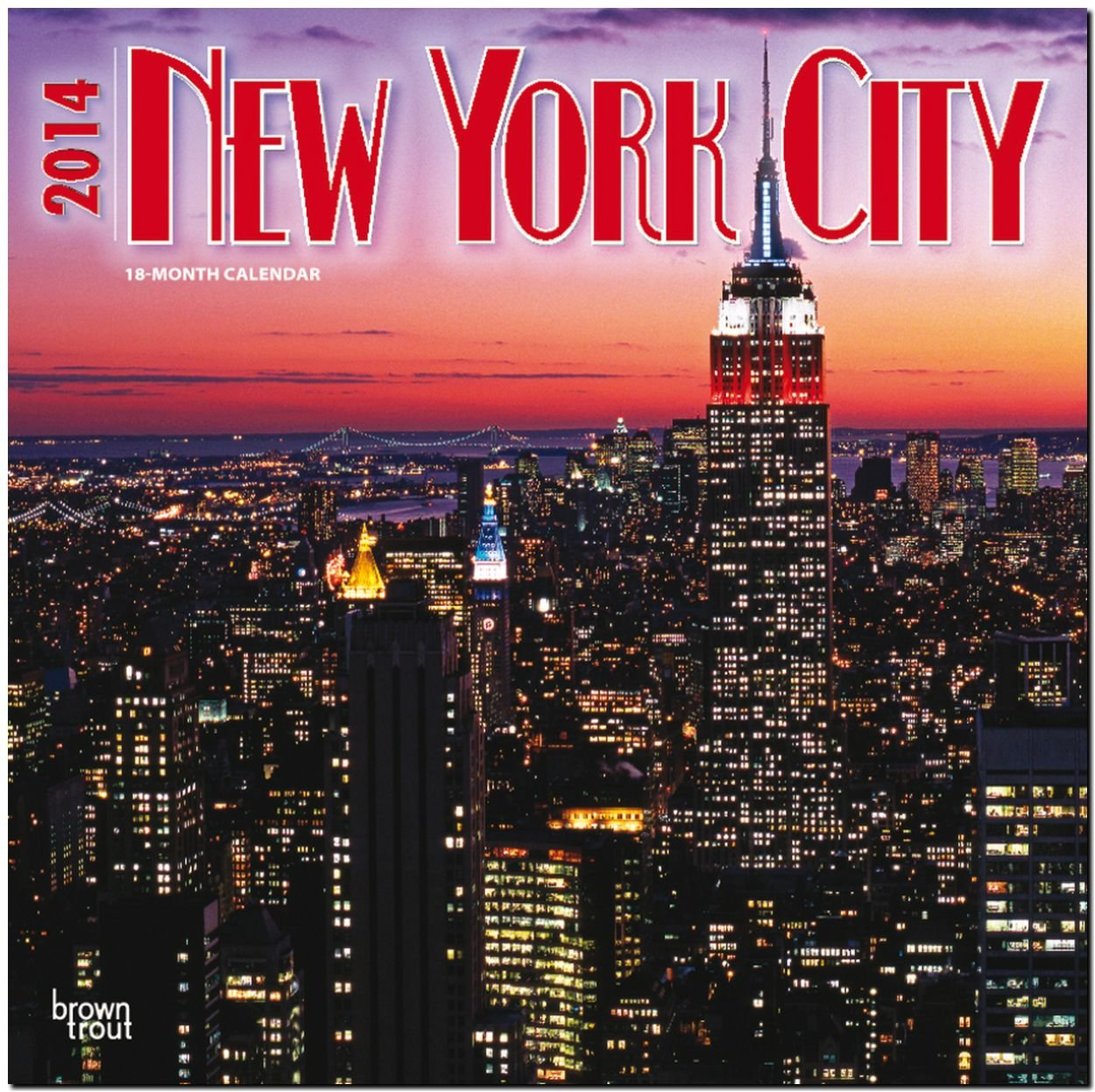 New York City 2014 - New York: Original BrownTrout-Kalender [Mehrsprachig] [Kalender]