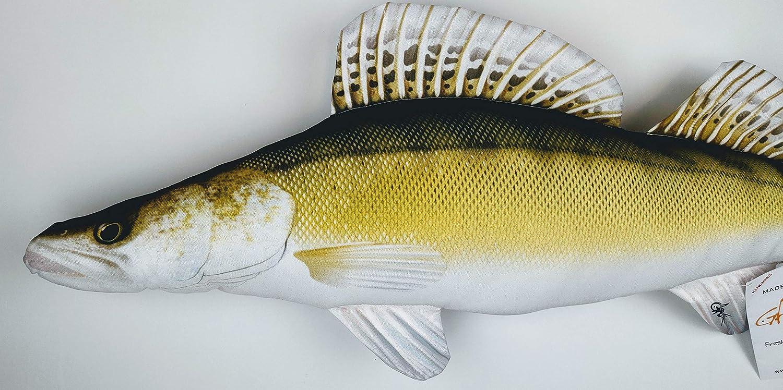 Zander GABY Fish Pillows Dekoratives Kissen in Form eines echten Fisches
