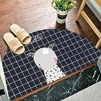 Semi-circular floor mats entrance bedroom bathroom entrance water-absorbing non-slip bathroom floor mats entrance door…