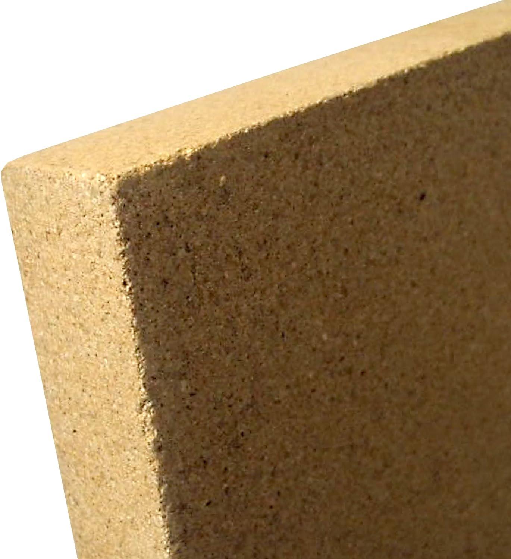 indoba IND-70713-VE253-Vermiculit Platte SF1100-25 x 500 x 500 mm Schamott Ersatz Vermiculite Natur