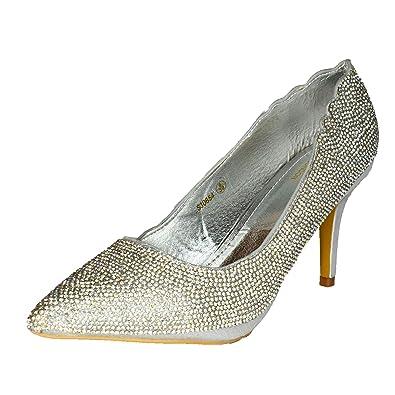 642da74b73 Womens Closed Pointed Toe Evening Shoes High Heel Stilettos Court Pumps  Size 3-8[