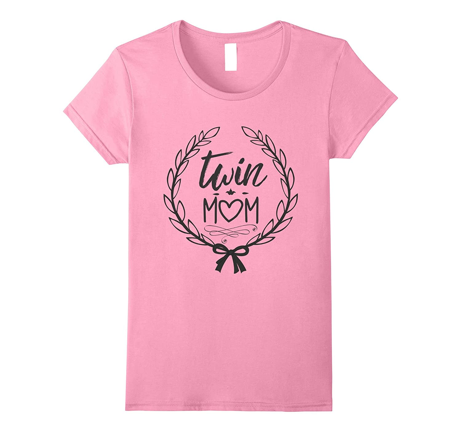 Womens Twin Mom T Shirt - Cute Family Tee-TH