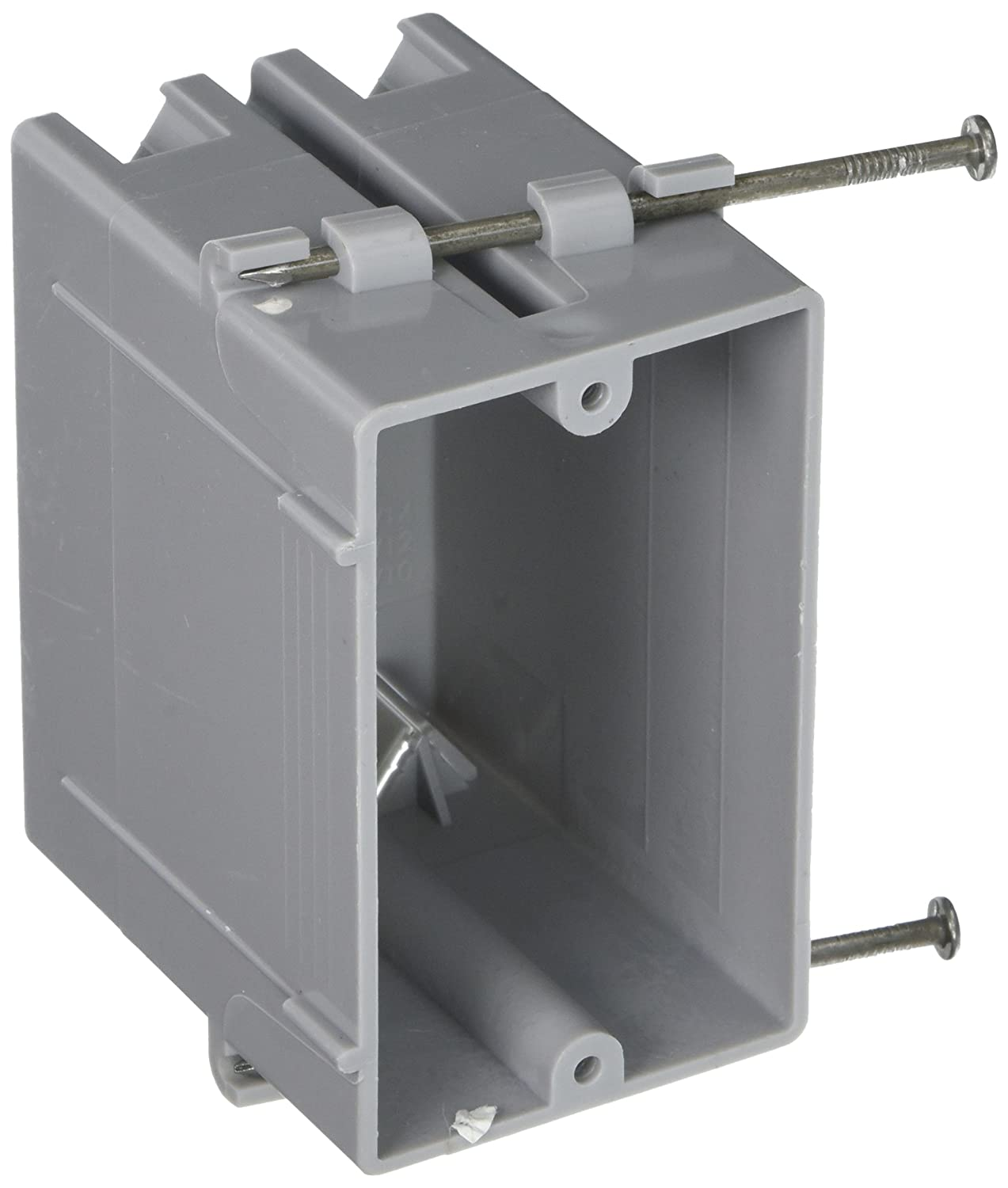 Hubbell Raco 7820RAC 3 1 4 Inch Deep Non Metallic Cable Electrical Box with 4 x NMSC Clamps Gang and 2 x Captive Nails 2 1 4 Inch x 3 19 32 Inch