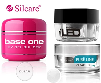 Silcare Base One UV Gel LED Pure Line - Kit de manicura de gel para uñas