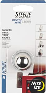 Nite Ize Original Steelie Magnetic Mount - Magnetically attaches to Metal Surfaces and to Steelie Phone + Tablet Sockets