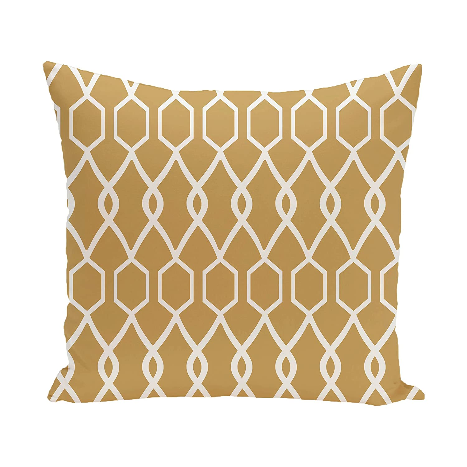 Classic Gray E by design Charleston Geometric Print Pillow 16-Inch Length