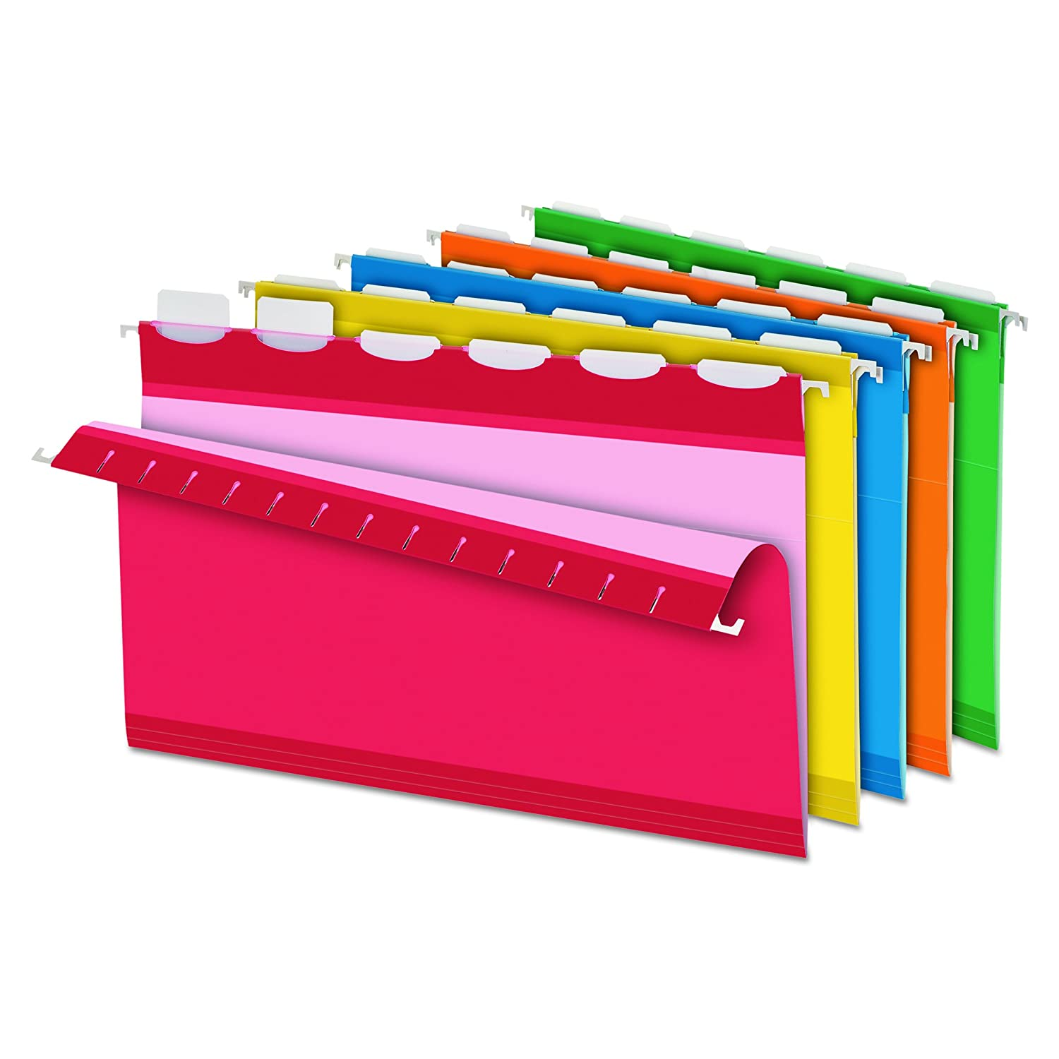 Pendaflex Ready-Tab Hanging File Folder, Assorted Colors, 1/5 Cut Tabs, Letter, 20-Box Esselte Corporation 42891EE