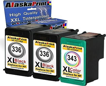 3x Remanufacturado Cartuchos de tinta HP 336 343 XL Compatible ...