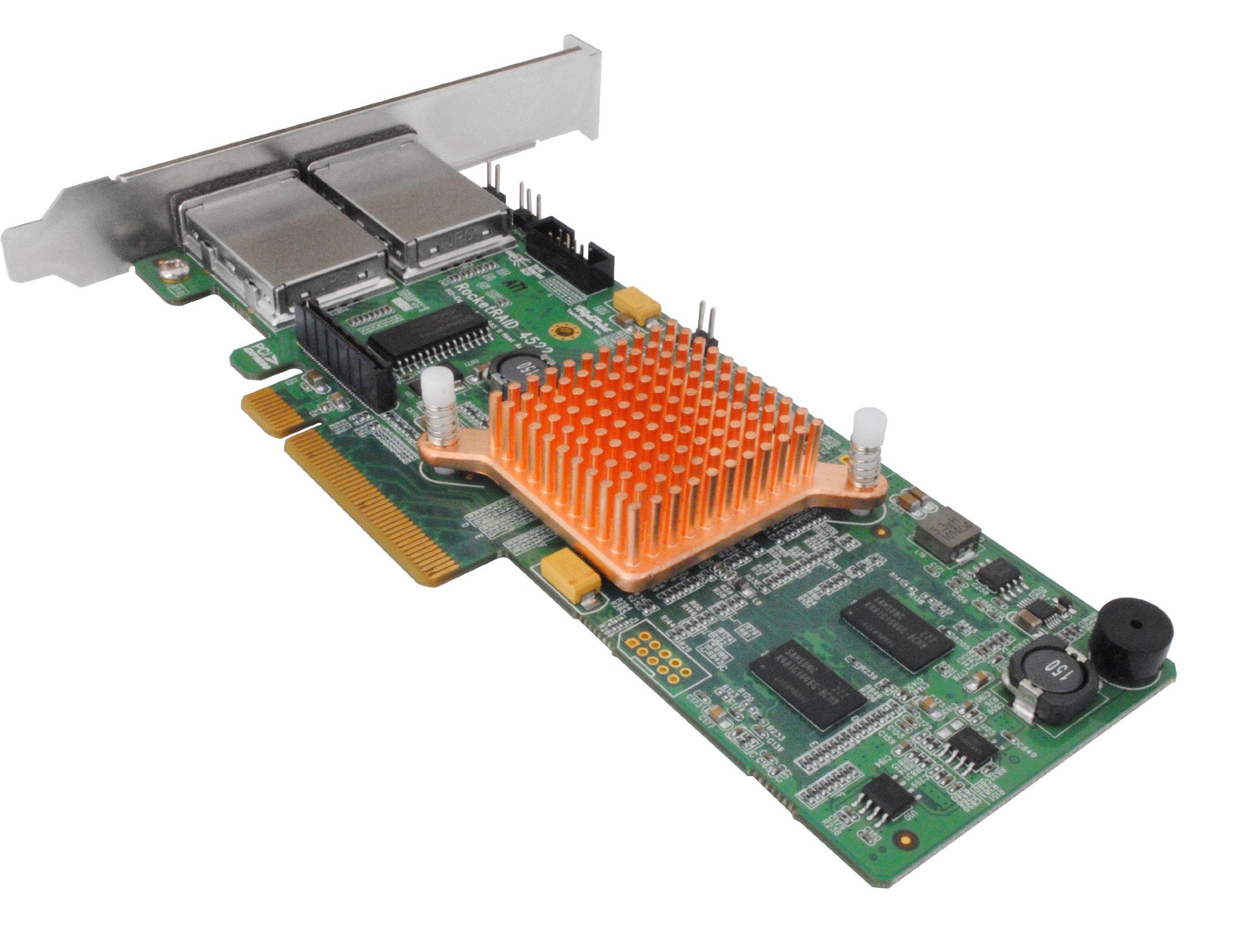 HighPoint RocketRAID 4522 8-Port External SAS 6Gb/s PCIe 2.0 x8 Hardware RAID HBA (SAS Tape / RAID Support)