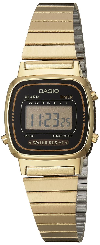Casio damen armbanduhr digital quarz la670wga 1df