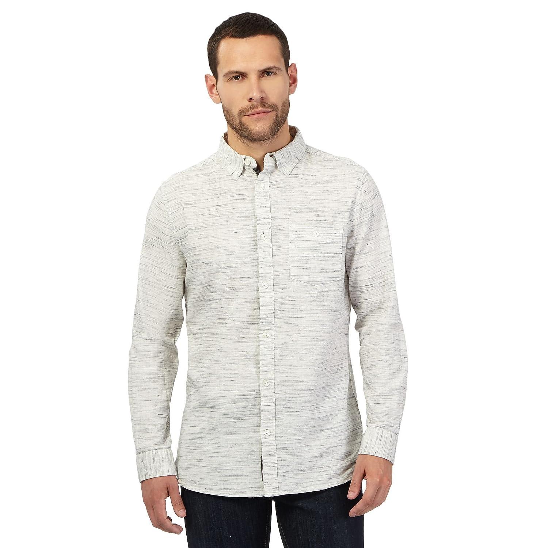 Rjr.John Rocha Mens Big And Tall Cream Space Dye Tailored Fit Shirt