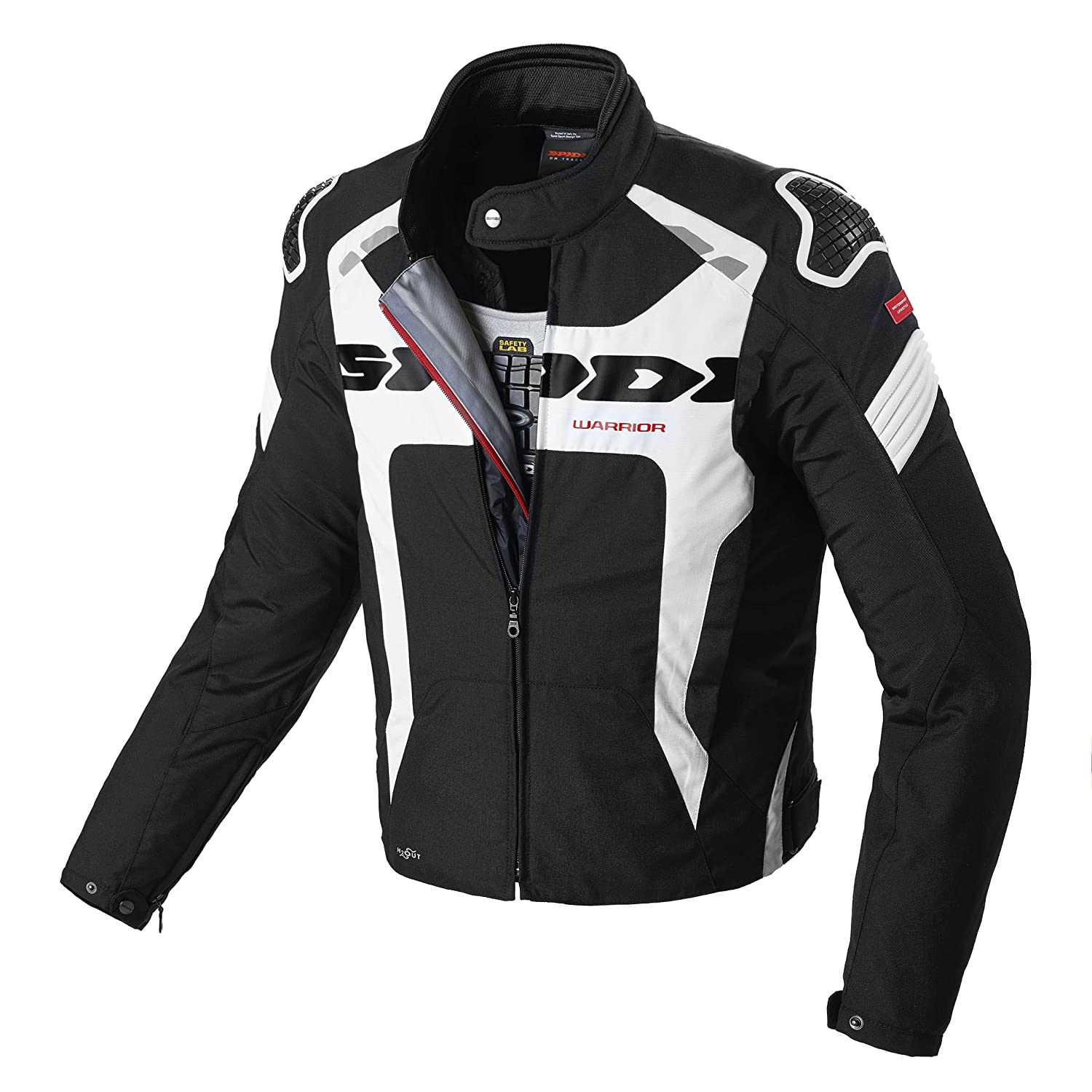 SPIDI D206-011- S Warrior H2Out Chaqueta, Negro/Blanco ...