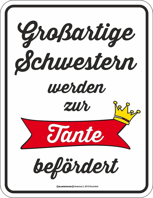 RAHMENLOS Original Blechschild Gro/ßartige Br/üder Werden zum Onkel bef/ördert.