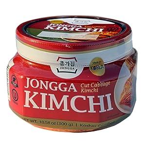 Jongga Kimchi - Kosher Certified - 6 Pack - Imported from Korea - Traditional Korean Cabbage (10.58oz x 6) - Halal - Vegan - Probiotic