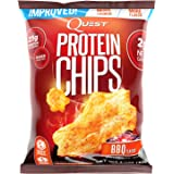 Quest Nutrition Protein Chips, BBQ, 22g Protein, 2g Net Carbs, 130 Cals, 1.2oz Bag, 1 Count, High Protein, Low Carb, Gluten Free, Soy Free, Potato Free