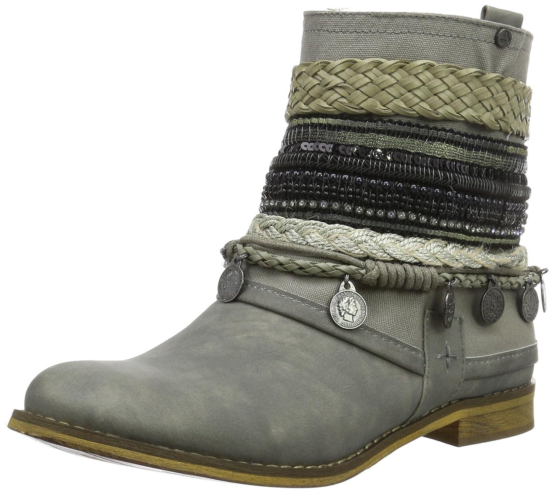 BULLBOXER Ankle Boots, Stivali da Motociclista Donna, Grau