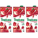 Tropicana Pomegranate Delight Fruit Juice, 1L (Pack of 3)