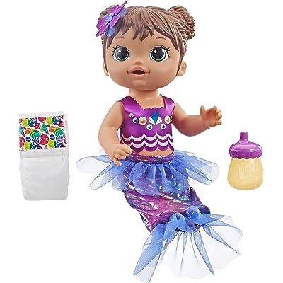 Baby Alive Shimmer N Splash Mermaid (Brown Hair): Toys & Games