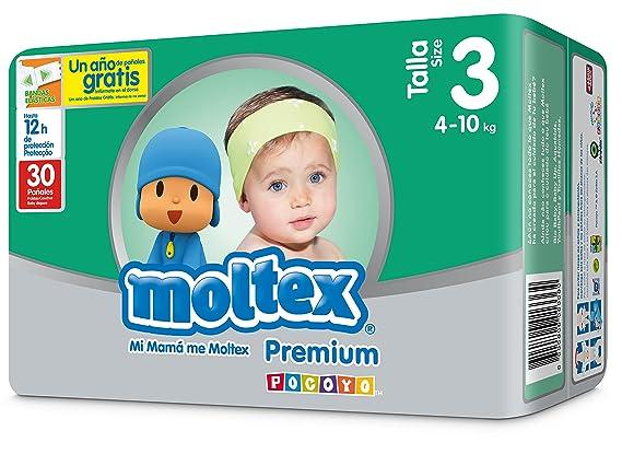 Pañales Talla 3 De (4 A 10 kg) Moltex Premium 30 unidades: Amazon.es: Alimentación y bebidas