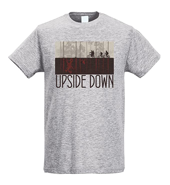 LaMAGLIERIA Camiseta Hombre Slim Upside Down Brown Print ...