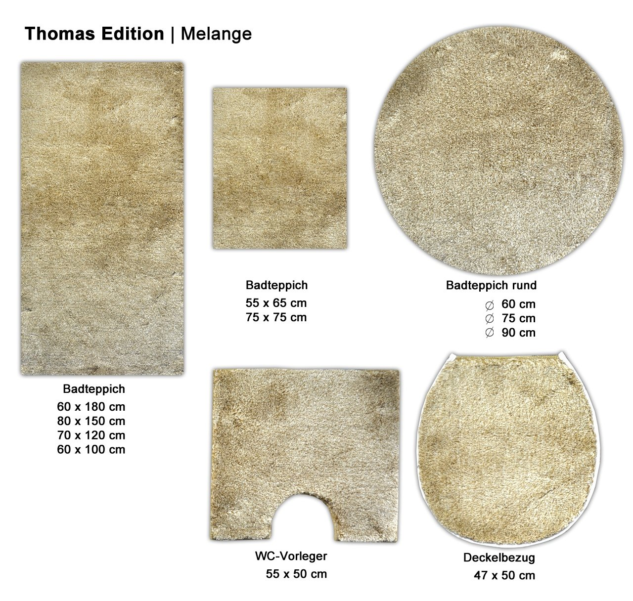Thomas Melange Mt2356 Light Brown Bath Mat 60 X 180