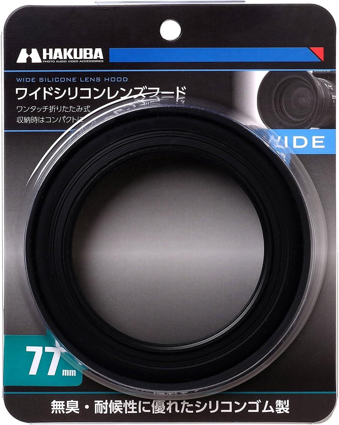 72mm HAKUBA Lens Hood Wide Silicon Lens Hood Folding Filter 径装 wear Black KA-WSLH72