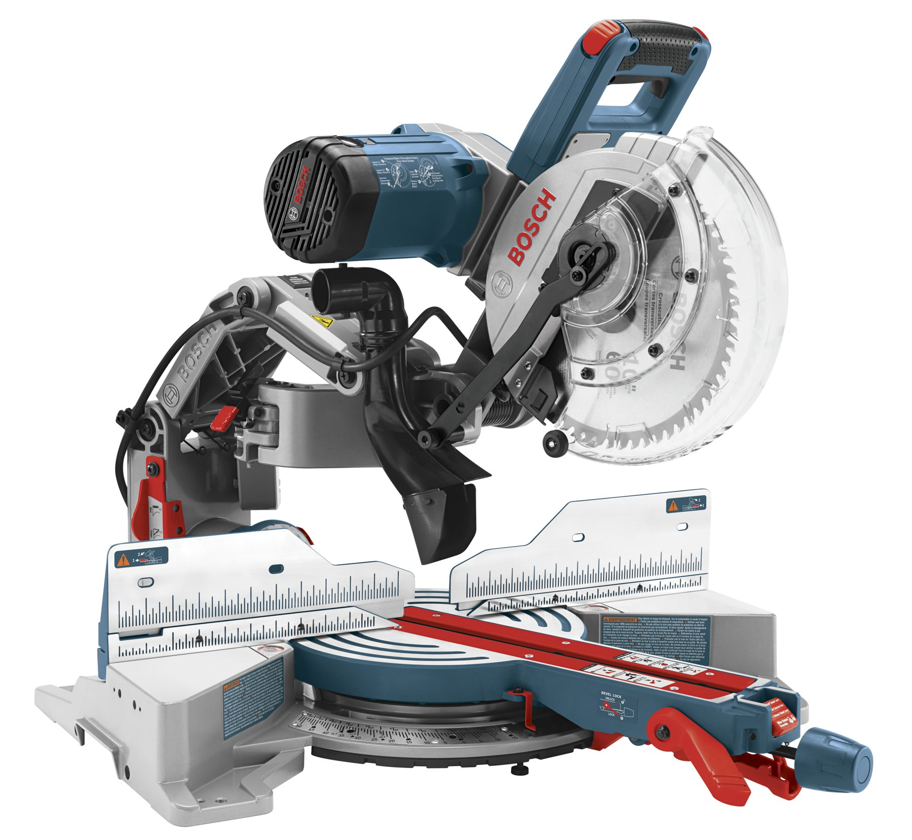 Bosch CM10GD Compact Miter Saw - 15 Amp Corded 10 in. Dual-Bevel Sliding Glide Miter Saw with 60-Tooth Carbide Saw Blade by BOSCH
