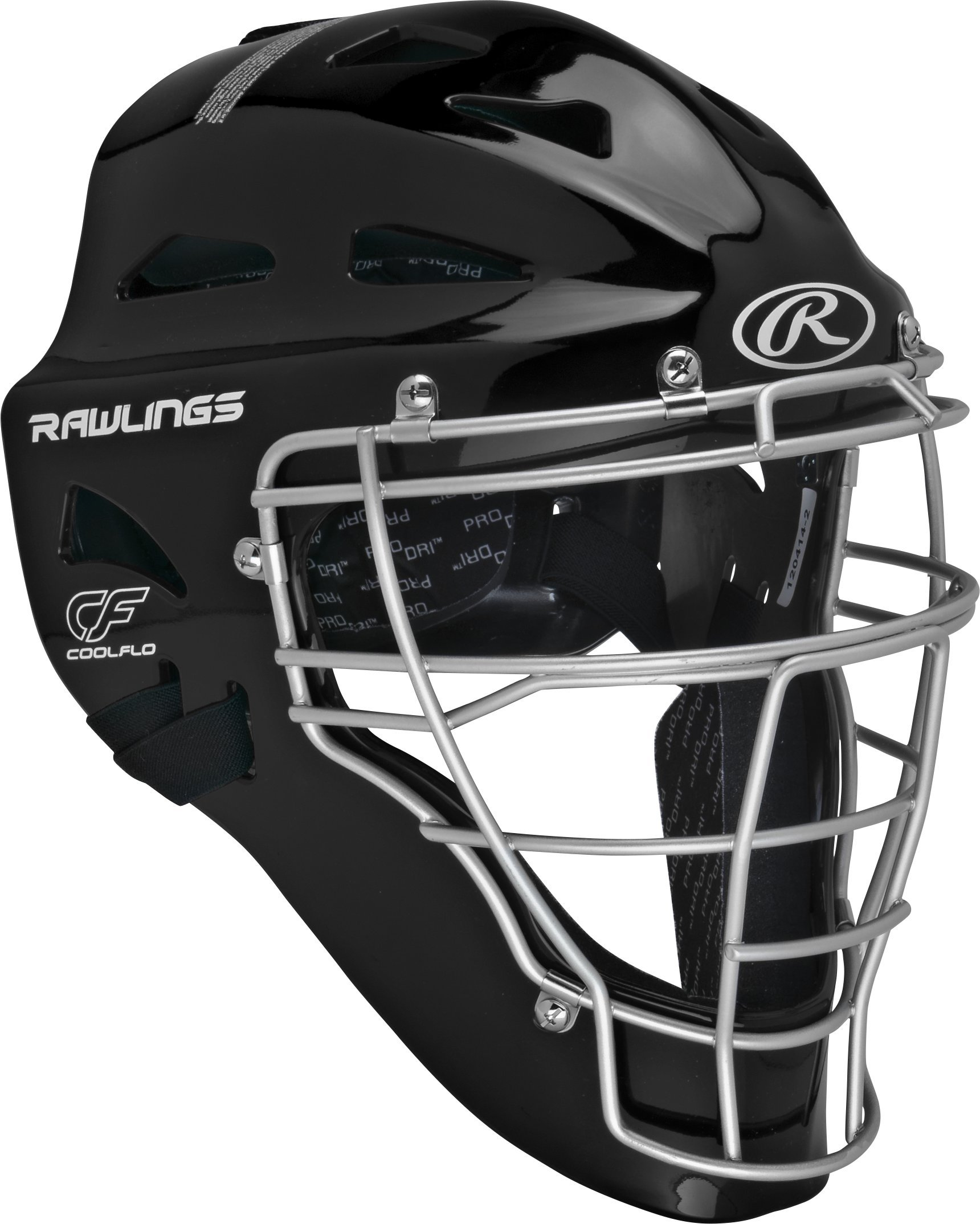 Rawlings  Adult Renegade Coolflo Hockey Style Catcher's Helmet, 7 1/8 - 7 3/4, Black/Silver by Rawlings
