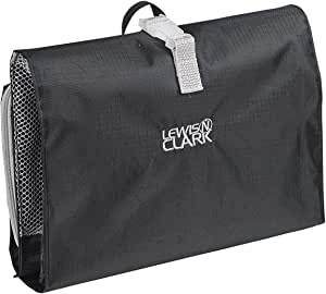Lewis N. Clark Hanging Toiletry Bag for Travel Accessories, Shampoo, Cosmetics + Personal Items with Waterproof Compartment and Folding Design