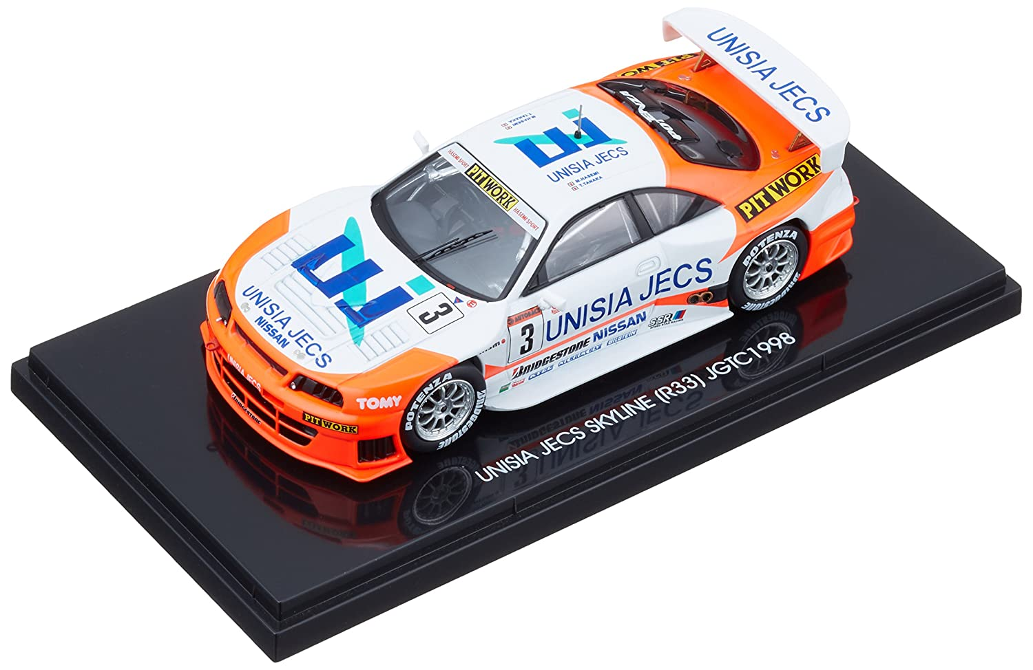 EBRRO 1/43 UNISIA JECS skyline 1988  3 (japan import)