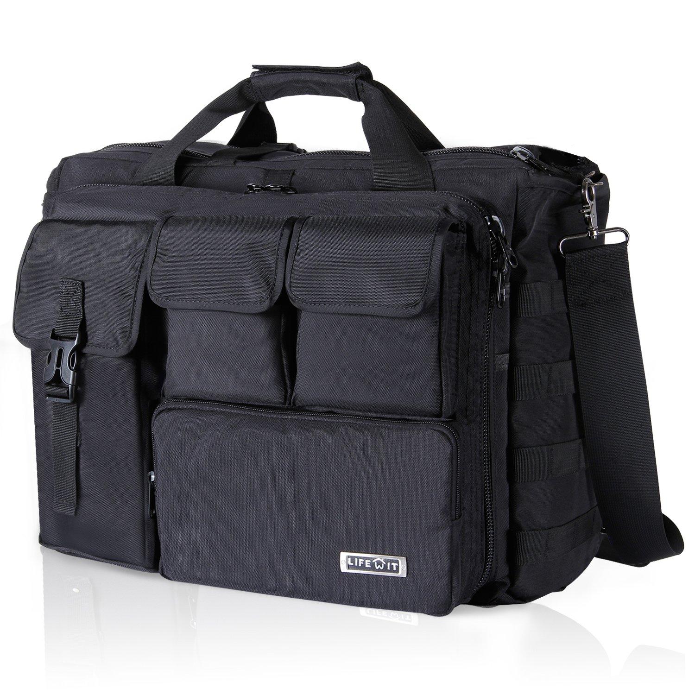 Lifewit 17.3'' Men's Military Laptop Messenger Bag Multifunction Tactical Briefcase Computer Shoulder Handbags, Black by Lifewit