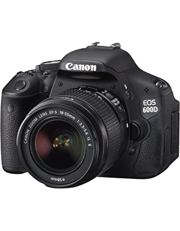 Canon EOS 600D Digital SLR Camera (inc. 18-55 mm f/3.5-5.6 IS II Lens Kit) (Renewed) by Amazon Renewed