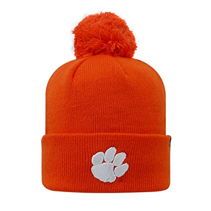 finest selection 829e3 b5366 Top of the World Clemson Tigers 2-Sided Beanie Hat with POM POM - NCAA