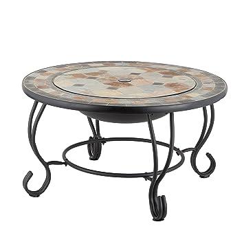 Mari Garden Tudela Table basse brasero ronde de jardin avec ...