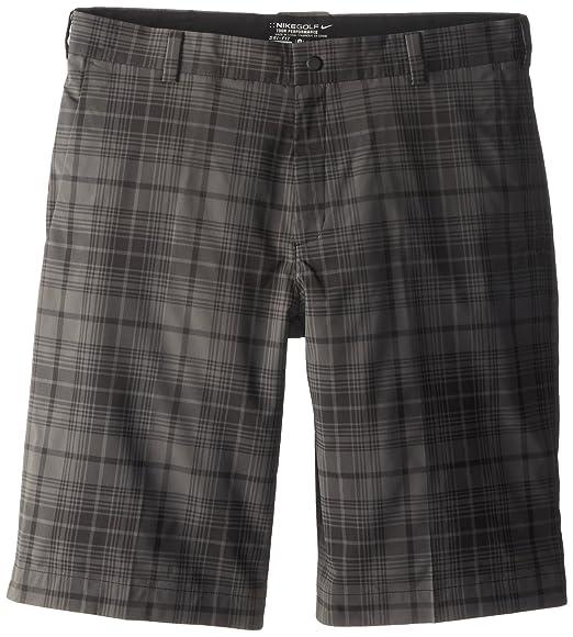 quality design 7bf94 8cb58 Nike Golf Men s Plaid Flat Front Shorts, Black Night Stadium, ...