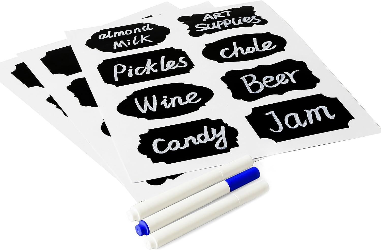 Eachgoo 80pcs Pizarra Pizarra engomadas del arte de la cocina Etiquetas etiquetas de papel Contacto