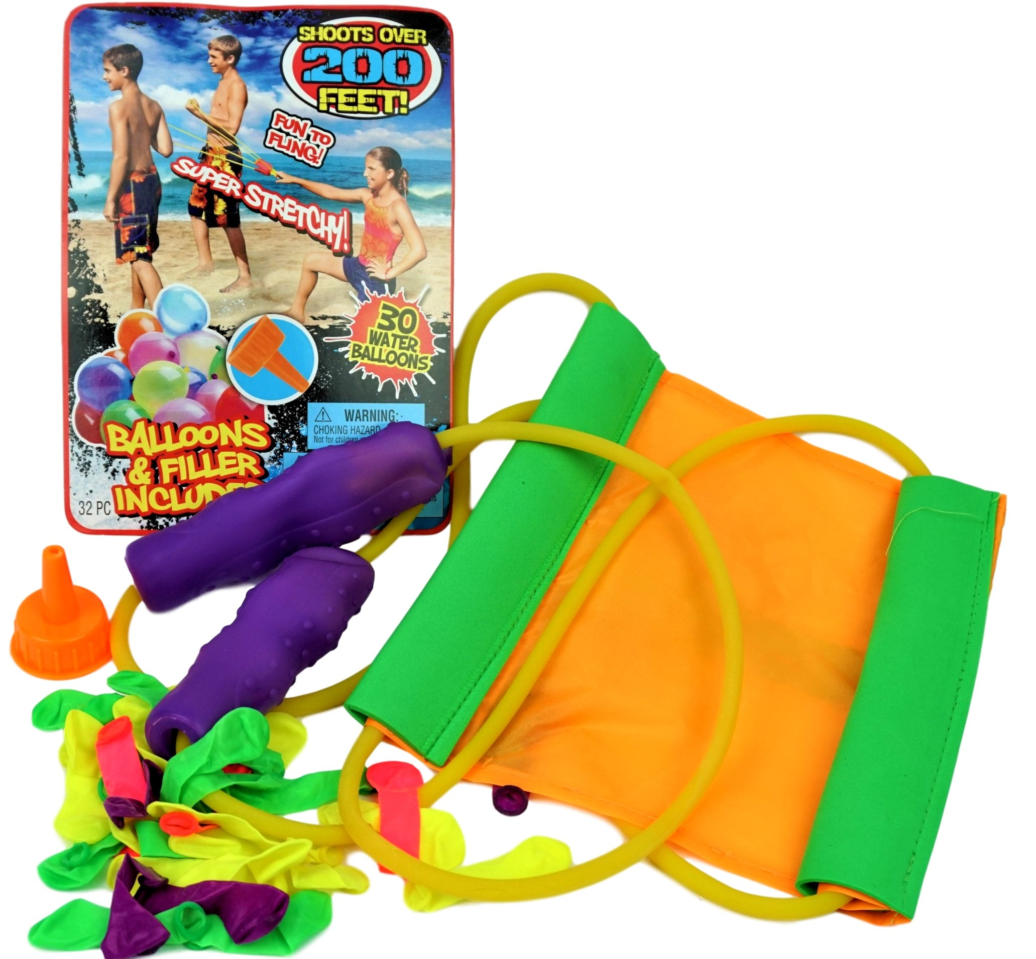 JA-RU Huge Sling Water Balloon Launcher + 30 Balloons (Pack of 6) Filler Included. Super Stretch | Item # 718-6 by JA-RU (Image #6)