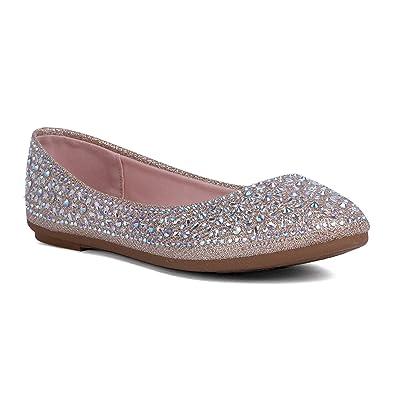 J.STIEN Women's Round Toe Slip-on Ballet Flats Shoes | Flats