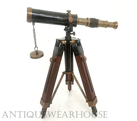 Maritime Antiques New Fashion Double Barrel Long View Brass Telescope Antique Finish Marine Navy W Tripod
