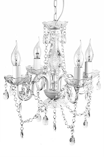 A2s gypsy crystal chandelier small white 4 arm h18 w15 acrylic a2s gypsy crystal chandelier small white 4 arm h18quot w15quot acrylic aloadofball Images