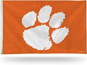 Rico Industries NCAA Clemson Tigers 3-Foot by 5-Foot Single Sided Banner Flag with Grommets