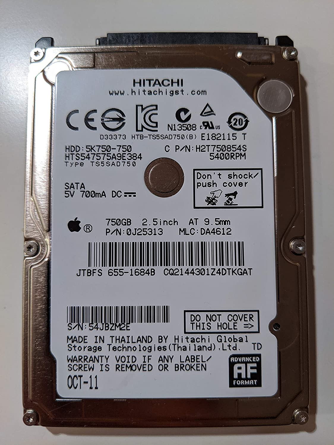 HGST Travelstar 5K750 750GB 2.5